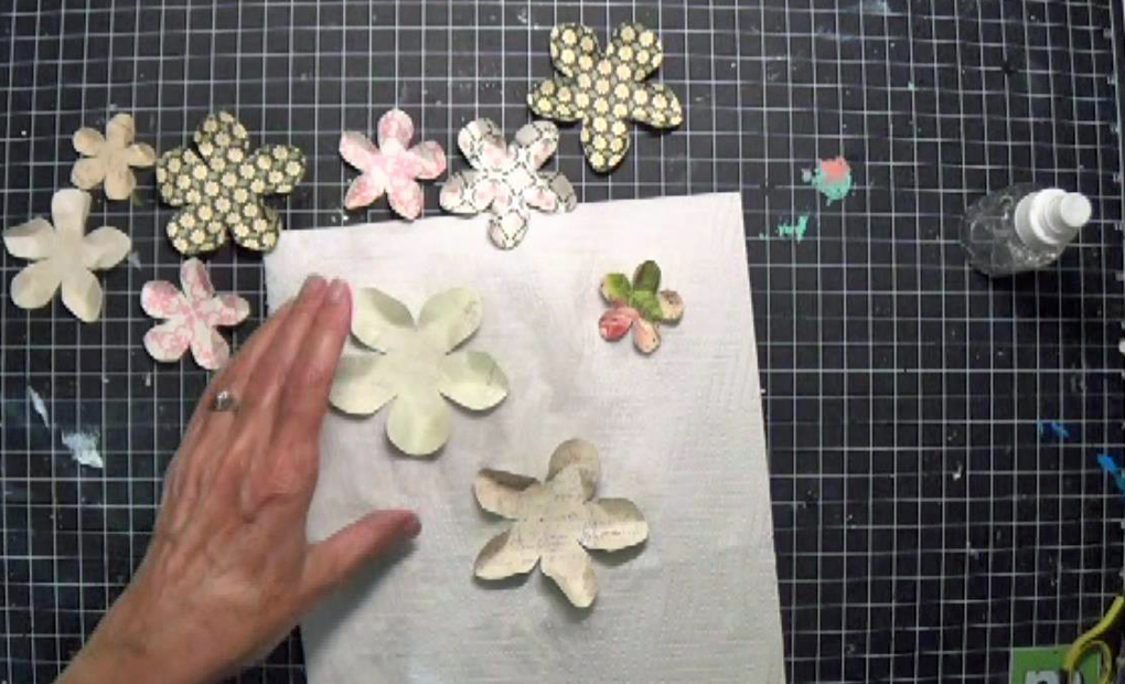 DIY scrunch and pinch the petals