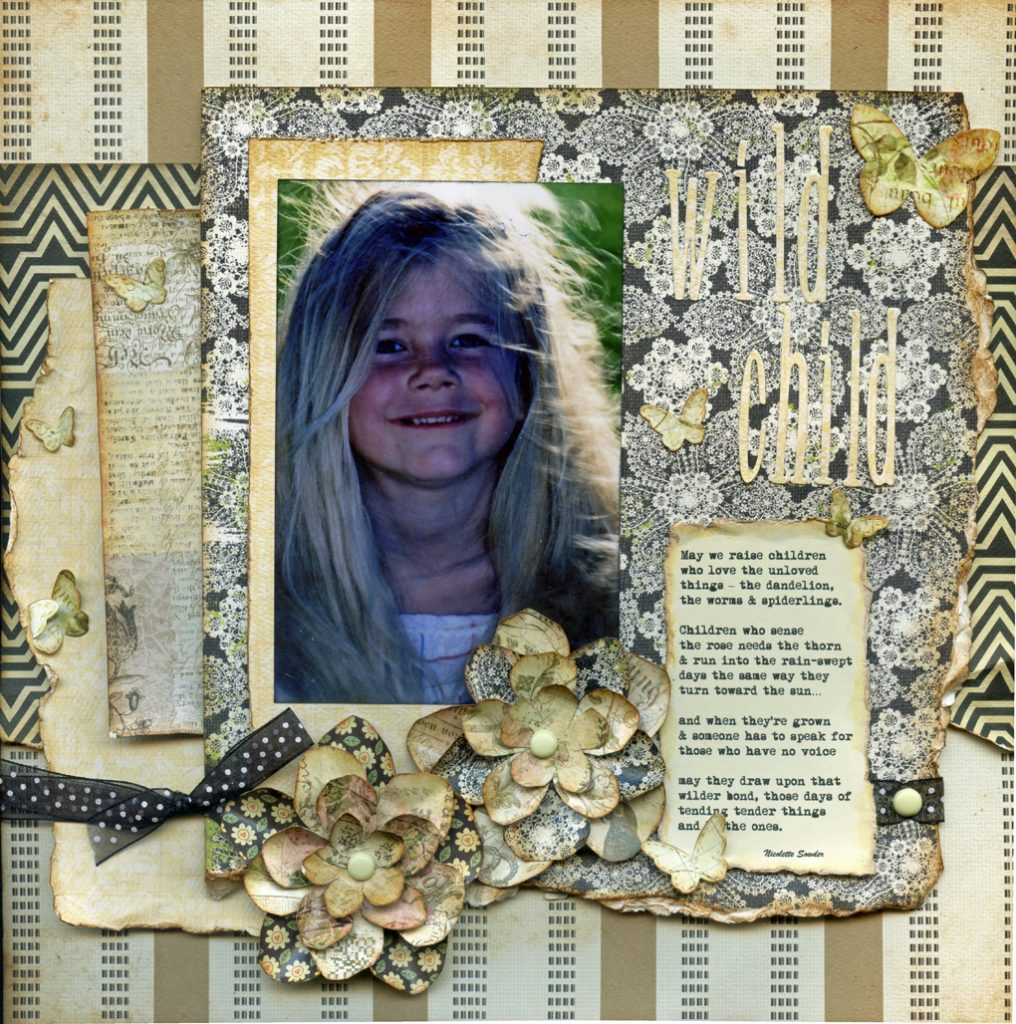 completed layout with flowers
